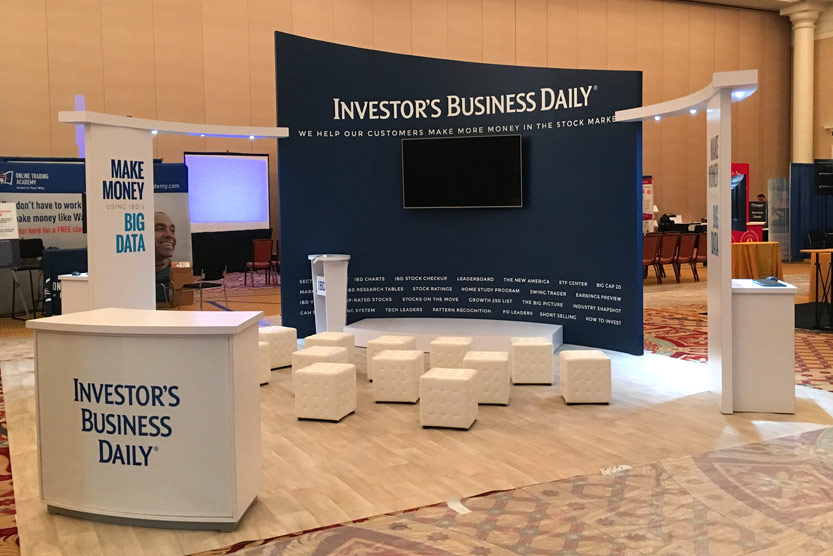 Trade Show Displays - Investor Business Daily - 20 x 20 display