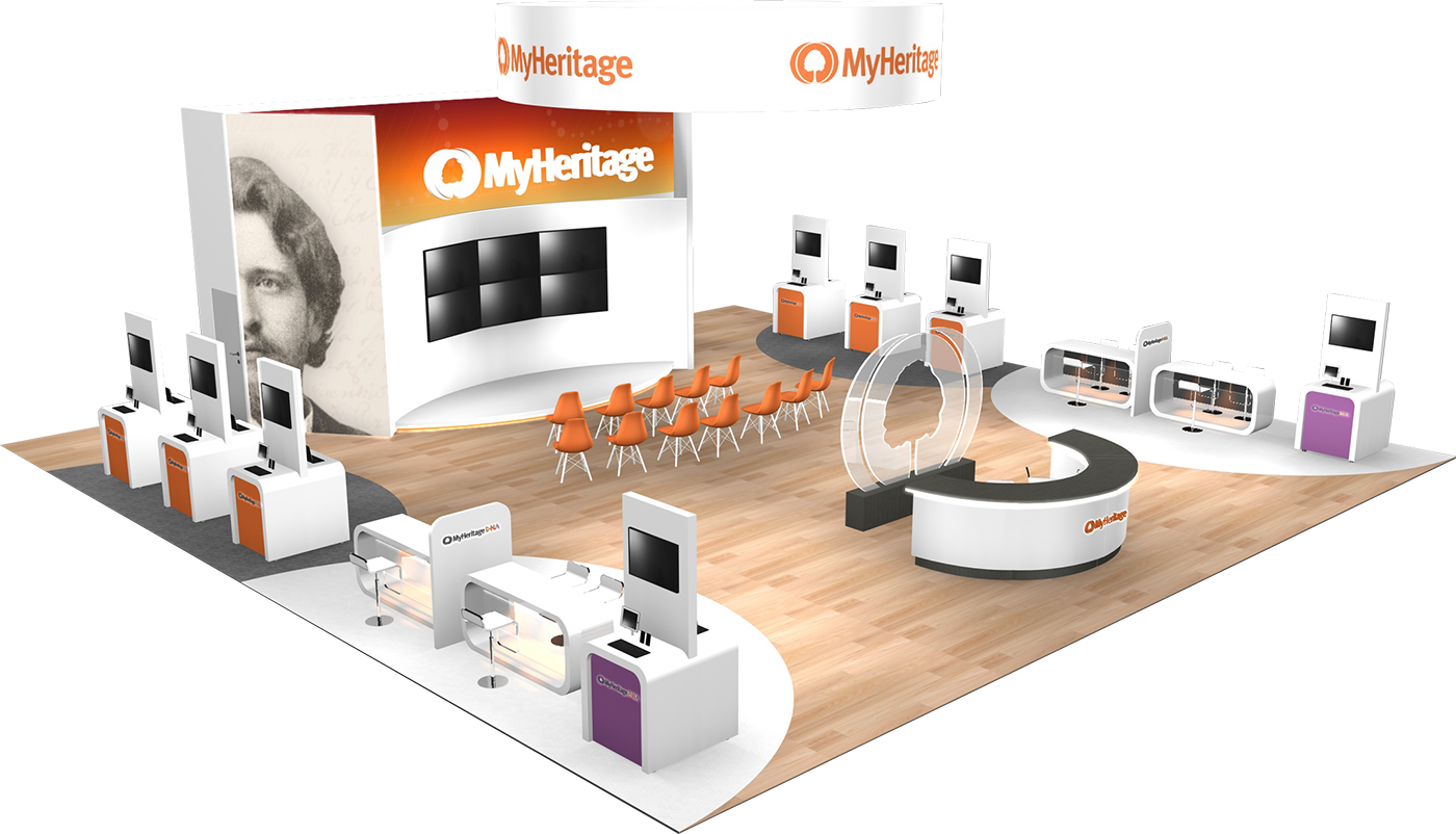 Custom trade show displays - MyHeritage